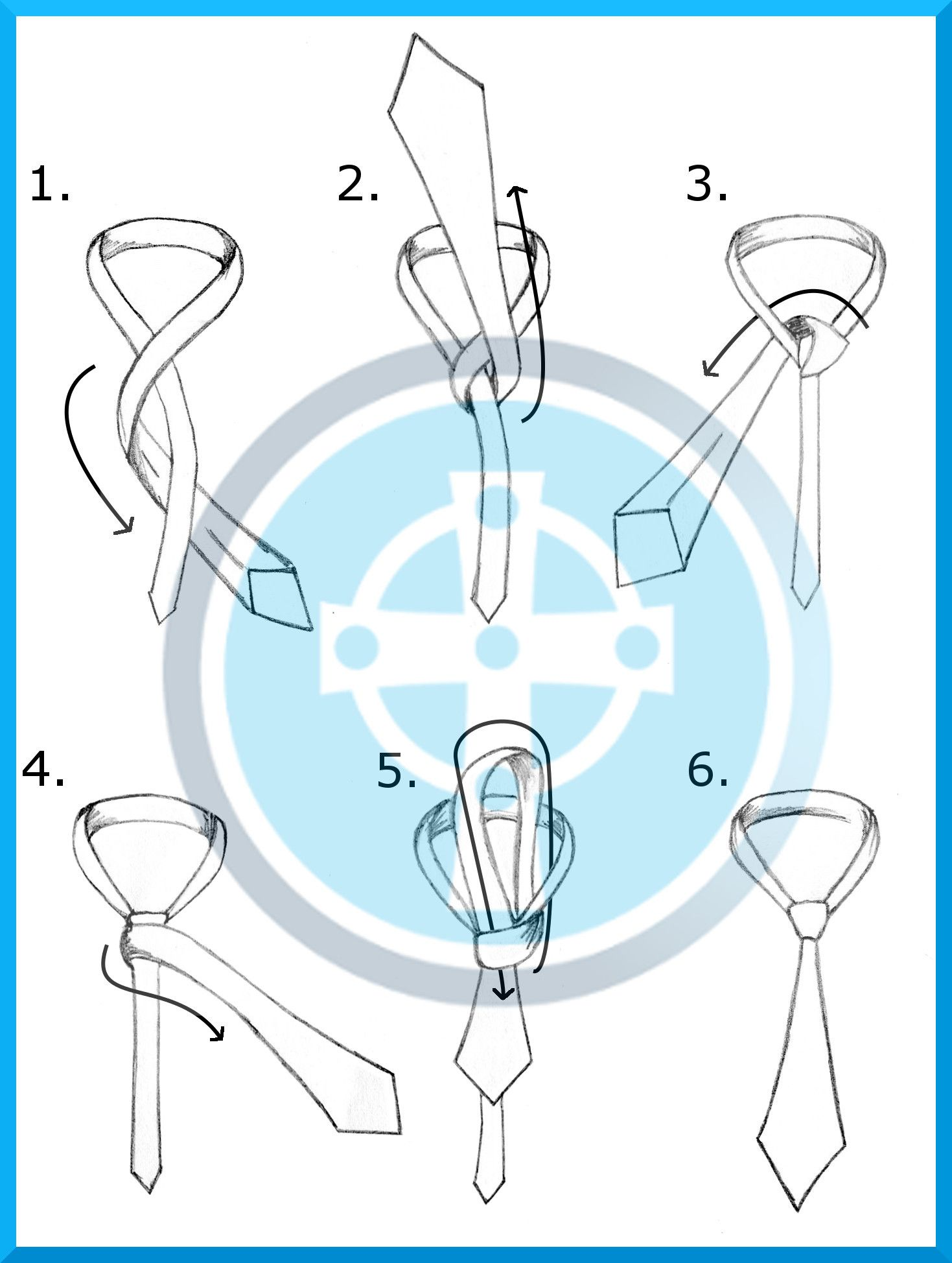 How to Tie a Windsor Knot | Simple Tie Knots Half Windsor Knot Diagram on