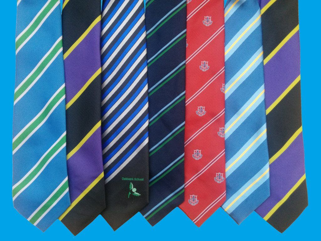 School ties laid side by side