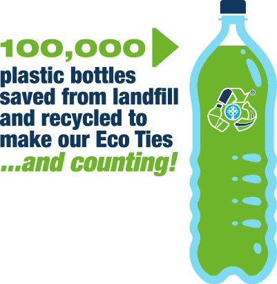eco ties 10,000 bottle recycled