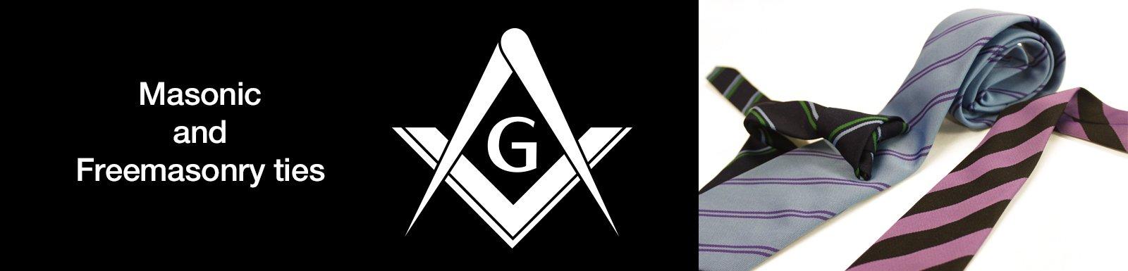 Masonic Ties - Custom Freemason Ties - Designed & Made in England