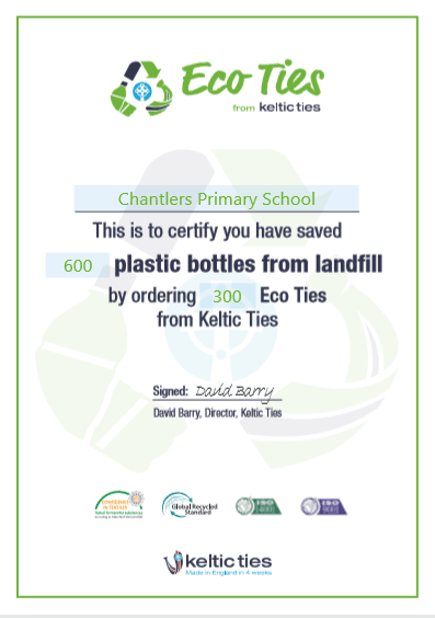 Keltic School Visit – Eco Ties Hand Out